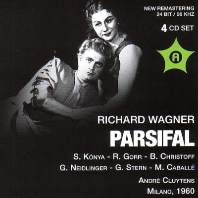 『パルジファル』全曲 クリュイタンス&スカラ座、コーンヤ、クリストフ、他(1960 モノラル)(4CD)