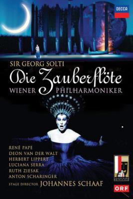 『魔笛』全曲 シャーフ演出、ショルティ&ウィーン・フィル、パーペ、セッラ、ツィーザク、他(1991 ステレオ)(2DVD)