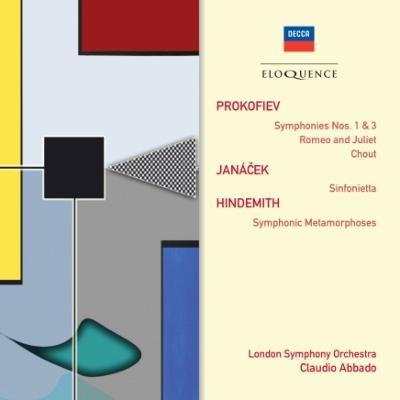 プロコフィエフ:古典交響曲、交響曲第3番、ヤナーチェク:シンフォニエッタ、ヒンデミット:交響的変容、他 アバド&ロンドン響(2CD)