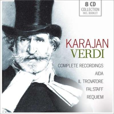 『アイーダ』全曲、『トロヴァトーレ』全曲、『ファルスタッフ』全曲、レクィエム カラヤン&ウィーン・フィル、スカラ座、テバルディ、カラス、他(8CD)