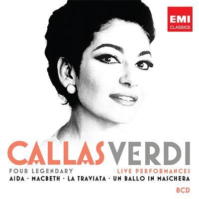 『アイーダ』全曲(1951)、『マクベス』全曲(1952)、『椿姫』全曲(1955)、『仮面舞踏会』全曲(1957) カラス、バスティアニーニ、他(8CD)