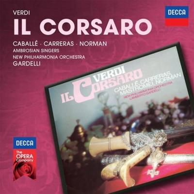 『海賊』全曲 ガルデッリ&ニュー・フィルハーモニア管、カレーラス、カバリエ、ノーマン、他(1975 ステレオ)(2CD)