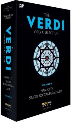 『アイーダ』(マゼール&スカラ座)、『ナブッコ』(ルイージ&ウィーン国立歌劇場)、『シモン・ボッカネグラ』(バレンボイム&スカラ座)(4DVD)