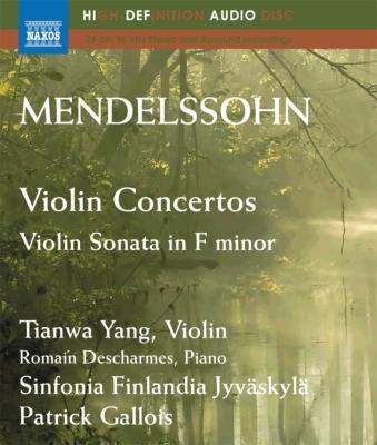 ヴァイオリン協奏曲ホ短調、ニ短調、ヴァイオリン・ソナタ ヤン・ティエンワ、ガロワ&シンフォニア・フィンランディア、デシャルム(ブルーレイ音声ディスク)