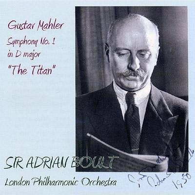 交響曲第1番『巨人』 ボールト&ロンドン・フィルハーモニー(1958 ステレオ)