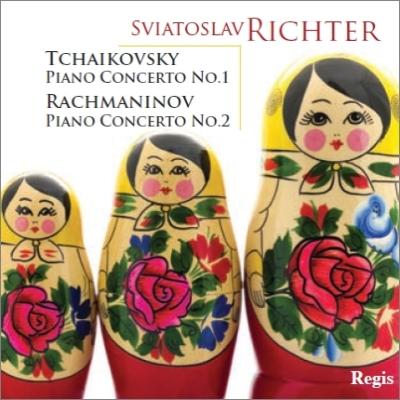 チャイコフスキー:ピアノ協奏曲第1番、ラフマニノフ:ピアノ協奏曲第2番 リヒテル、カラヤン&ウィーン響、ヴィスロツキ&ワルシャワ・フィル