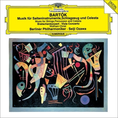 弦楽器、打楽器とチェレスタのための音楽、ヴィオラ協奏曲 小澤征爾&ベルリン・フィル、クリスト