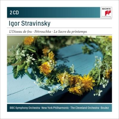 春の祭典、ペトルーシュカ、『火の鳥』組曲 ブーレーズ&クリーヴランド管弦楽団、ニューヨーク・フィル、BBC交響楽団(2CD)