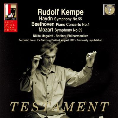 モーツァルト:交響曲第39番、ベートーヴェン:ピアノ協奏曲第4番、ハイドン:校長先生 ケンペ&ベルリン・フィル、マガロフ(1962 モノラル)