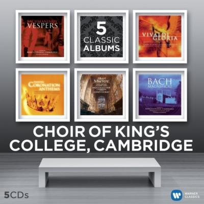ラフマニノフ:『晩祷』、ヴィヴァルディ:『グローリア』、アレグリ:『ミゼレーレ』、バッハ:『マニフィカト』、他 ケンブリッジ・キングズ・カレッジ合唱団(5CD)