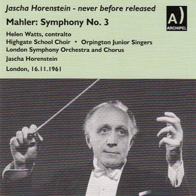 マーラー:交響曲第3番(ロンドン響、1961)、ブラームス:ピアノ協奏曲第1番(アラウ、フランス国立放送管、1962) ホーレンシュタイン(2CD)