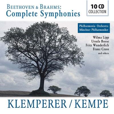 ベートーヴェン:交響曲全集 クレンペラー(1960 モノラル)、ブラームス:交響曲全集 ケンペ(1975 ステレオ)(10CD)