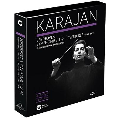 交響曲全集 カラヤン&フィルハーモニア管弦楽団(第9ステレオ音源付)(6CD)