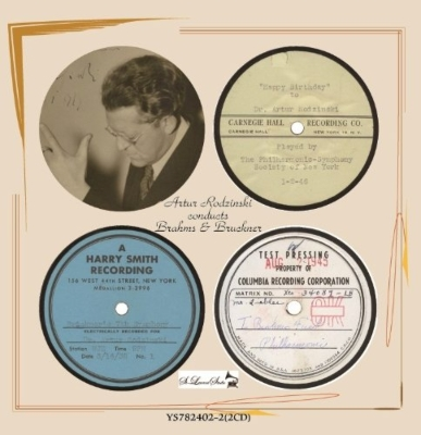 ブラームス:交響曲第1番、ブルックナー:交響曲第7番、他 ロジンスキー&ニューヨーク・フィル、クリーヴランド管(2CD)