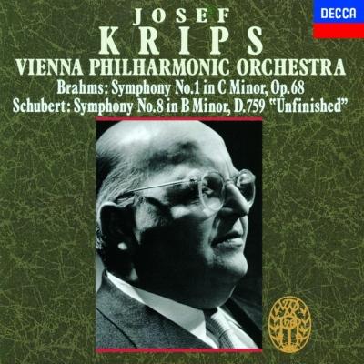 ブラームス:交響曲第1番、シューベルト:交響曲第8番『未完成』 クリップス&ウィーン・フィル