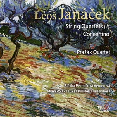 弦楽四重奏曲第1番、第2番、コンチェルティーノ プラジャーク四重奏団、ピェホチョヴァー=ヴェルネロヴァー、他(2013)
