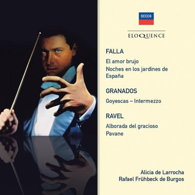 ファリャ:恋は魔術師、スペインの庭の夜、ラヴェル:道化師の朝の歌、他 フリューベック・デ・ブルゴス&ニュー・フィルハーモニア管、ラローチャ、他