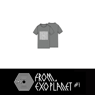Initial T-shirt WHITE Mサイズ/FROM EXO PLANET #1 THE LOST PLANET IN SEOUL