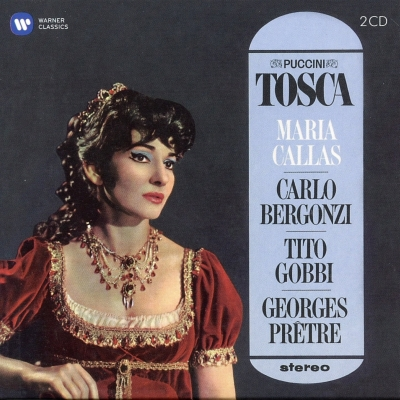 『トスカ』全曲 プレートル&パリ音楽院管、カラス、ベルゴンツィ、ゴッビ、他(1964−65 ステレオ)(2CD)