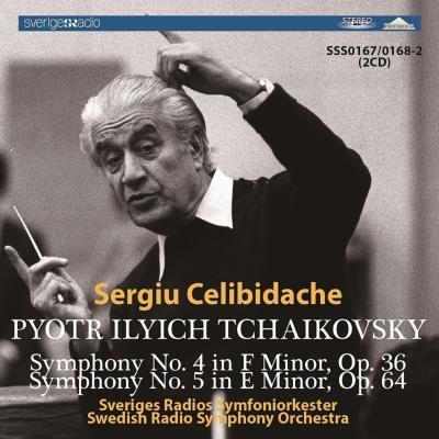交響曲第4番、第5番 チェリビダッケ&スウェーデン放送交響楽団(1970、1968 ステレオ)(2CD)