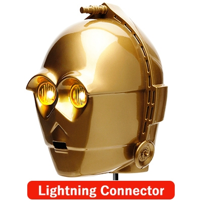 Lightningコネクタ 顔型AC充電器2A/ STARWARS(C-3PO)