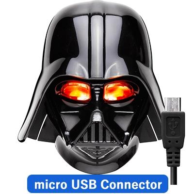 Micro USBコネクタ 顔型AC充電器2A/ STARWARS(ダースベイダー