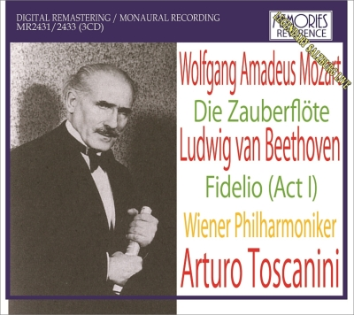 Die Zauberflote : Toscanini / Vienna Philharmopnic, Rosvaenge, Novotna, A.Kipnis, etc (1937 Monaural)+Beethoven Fidelio Act.1 (1936)(3CD)