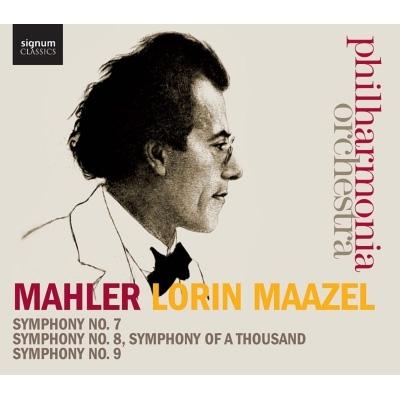 交響曲第7番『夜の歌』、第8番『千人の交響曲』、第9番 ロリン・マゼール&フィルハーモニア管弦楽団(6CD)