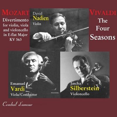 Vivaldi Four Seasons, Mozart Divertimento K.563 : Nadien(Vn)E.Vardi(Va)Jascha Silberstein(Vc)etc