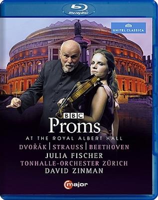 ベートーヴェン:『田園』、ドヴォルザーク:ヴァイオリン協奏曲、他 ユリア・フィッシャー、ジンマン&チューリッヒ・トーンハレ管(プロムス2014)