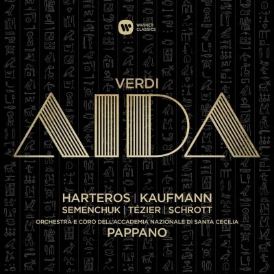 『アイーダ』全曲 パッパーノ&聖チェチーリア国立音楽院管、ハルテロス、カウフマン、セメンチュク、他(2015 ステレオ)(3CD)