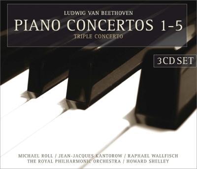 ピアノ協奏曲全集、三重協奏曲 マイケル・ロール、カントロフ、R.ウォルフィッシュ、シェリー&ロイヤル・フィル(3CD)