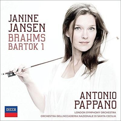 ブラームス:ヴァイオリン協奏曲、バルトーク:ヴァイオリン協奏曲第1番 ジャニーヌ・ヤンセン、パッパーノ&聖チェチーリア国立音楽院管、ロンドン響