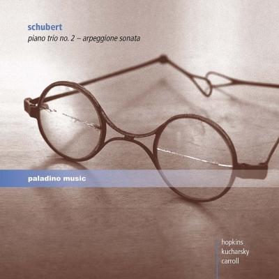 ピアノ三重奏曲第2番、アルペジョーネ・ソナタ クチャルスキー(ヴァイオリン、ヴィオラ)、E.ホプキンス、カロッル