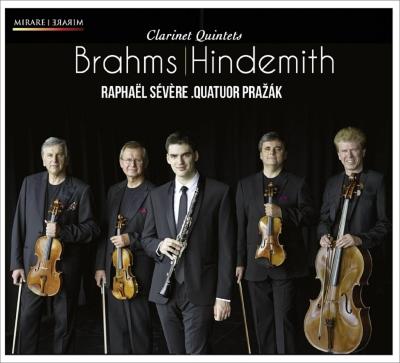 ブラームス:クラリネット五重奏曲、ヒンデミット:クラリネット五重奏曲 セヴェール、プラジャーク四重奏団