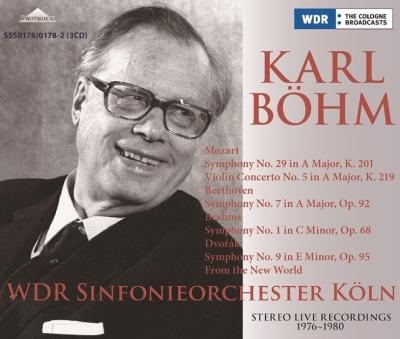 ベーム&ケルン放送響ステレオ・ライヴ1976〜80 ベートーヴェン:交響曲第7番、ブラームス:交響曲第1番、ドヴォルザーク:新世界より、他(3CD)