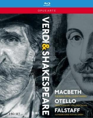 『マクベス』全曲(パッパーノ指揮)、『オテロ』全曲(ロス=マルバ指揮)、『ファルスタッフ』全曲(ユロフスキー指揮)(3BD)