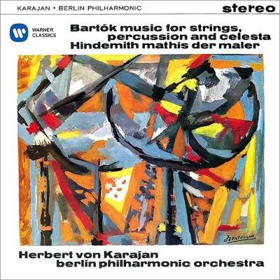 バルトーク:『弦楽器、打楽器とチェレスタのための音楽』、ヒンデミット:『画家マチス』 カラヤン&ベルリン・フィル