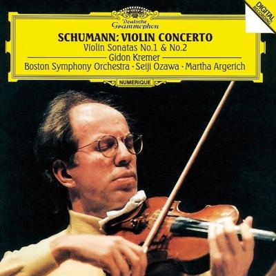 ヴァイオリン協奏曲、ヴァイオリン・ソナタ第1番、第2番 ギドン・クレーメル、小澤征爾&ボストン交響楽団、マルタ・アルゲリッチ