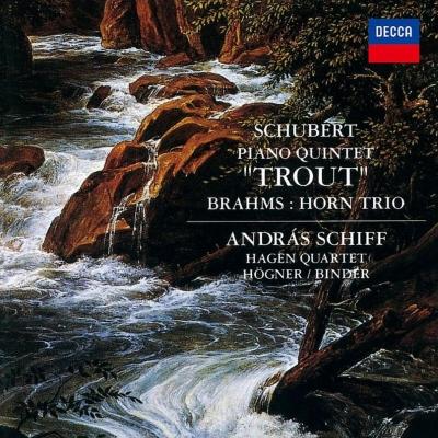 シューベルト:ピアノ五重奏曲『ます』、ブラームス:ホルン三重奏曲 アンドラーシュ・シフ、ハーゲン四重奏団員、ギュンター・ヘーグナー、他