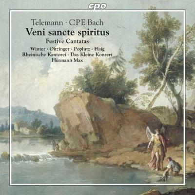 テレマン:晩年の祝祭カンタータ集、C.P.E.バッハ:神は主を復活させたまいし ヘルマン・マックス&ライニッシェ・カントライ、ダス・クライネ・コンツェルト