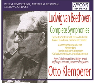 Complete Symphonies : Otto Klemperer / Concertgebouw Orchestra, Turin RAI Orchestra, Cologne Radio Symphony Orchestra (1954-64)(5CD)
