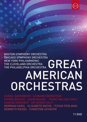 グレート・アメリカン・オーケストラ〜ボストン交響楽団、シカゴ交響楽団、ニューヨーク・フィルハーモニック、クリーヴランド管弦楽団、フィラデルフィア管弦楽団(11DVD)