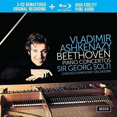 ピアノ協奏曲全集 ヴラディーミル・アシュケナージ、ゲオルグ・ショルティ&シカゴ交響楽団(3CD+ブルーレイ・オーディオ)