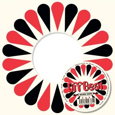 Offbeat Sleeve レッド×ブラック ティアー 5枚セット