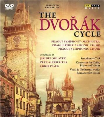 プラハ交響楽団/ドヴォルザーク・チクルス〜後期交響曲集、協奏曲、スターバト・マーテル、他 ビエロフローヴェク、ペシェク、マイスキー、他(6DVD)
