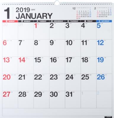 E31 エコカレンダーB2変型 2019年1月始まり 2019年 壁掛