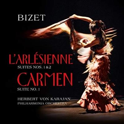 「アルルの女」組曲 第1番、第2番、「カルメン」組曲 第1番:ヘルベルト・フォン・カラヤン指揮&フィルハーモニア管弦楽団 (アナログレコード/Vinyl Passion Classical)