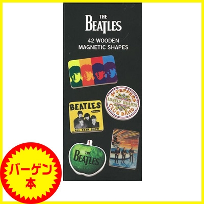 【バーゲン本】 The Beatles 42 Wooden Magnetic Shapes