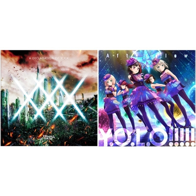 《特典BD付 初回限定盤セット》 RAISE A SUILEN『A DECLARATION OF ×××』 +Afterglow『Y.O.L.O!!!!!』